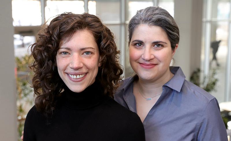 Headshots of Jessica Mozersky and Sarah Hartz
