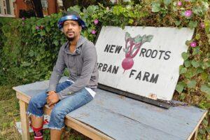 Antajuan A. conveys his activism through urban farming and buttons
