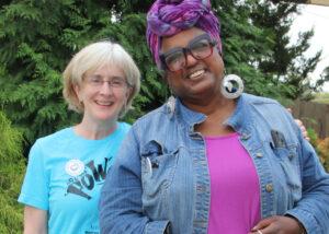 Christine Berg, PhD, OTR/L, FAOTA, (left) and Rev. Dr. Paulette Sankofa (right)