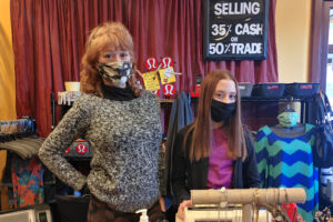 Resale shop owner Tina believes in high-end clothes at low cost and COVID vaccine participation