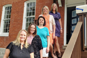 Share staff (l to r) Patti Budnick, Sarah Purcell, Rose Carlson, Cindy Swain and Sarah Lawrenz